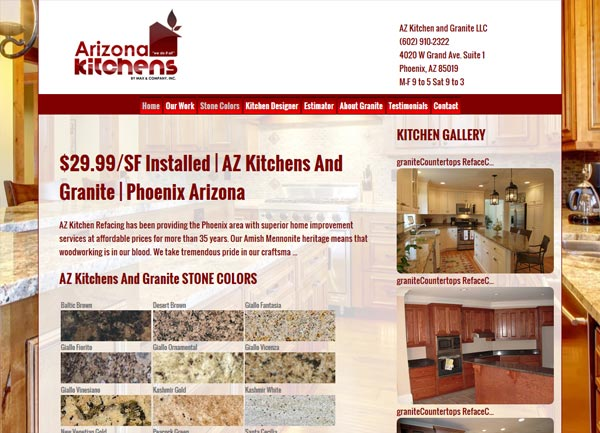Granite Countertop Website Design