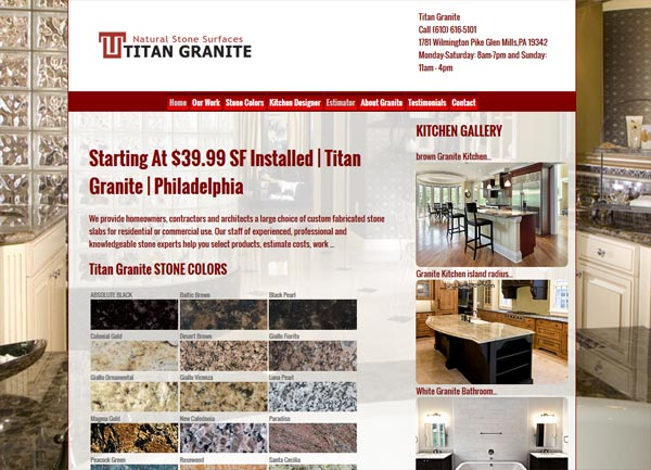 Granite Countertop Website Design