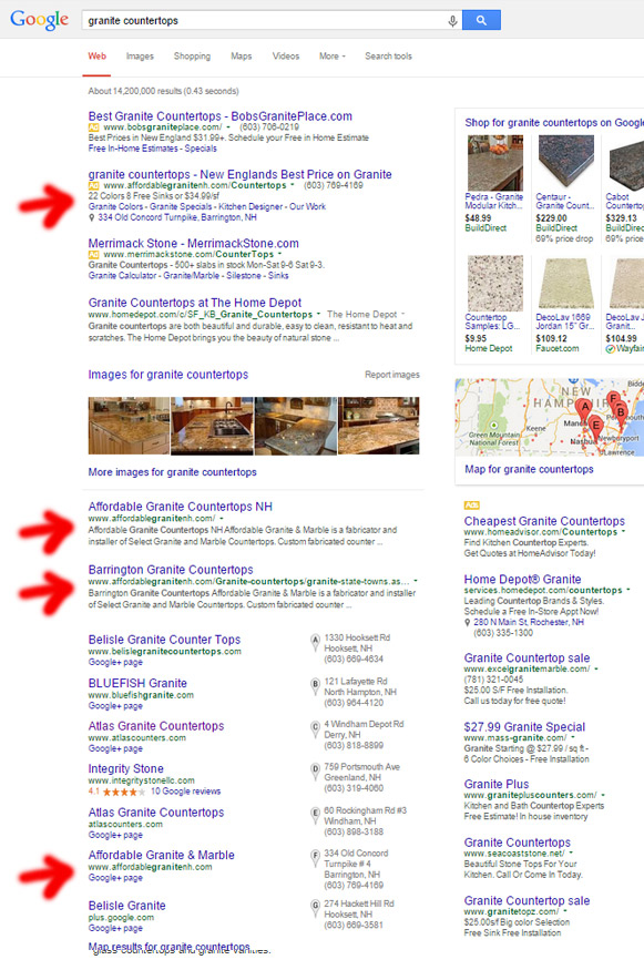 googlelocalSEOresults