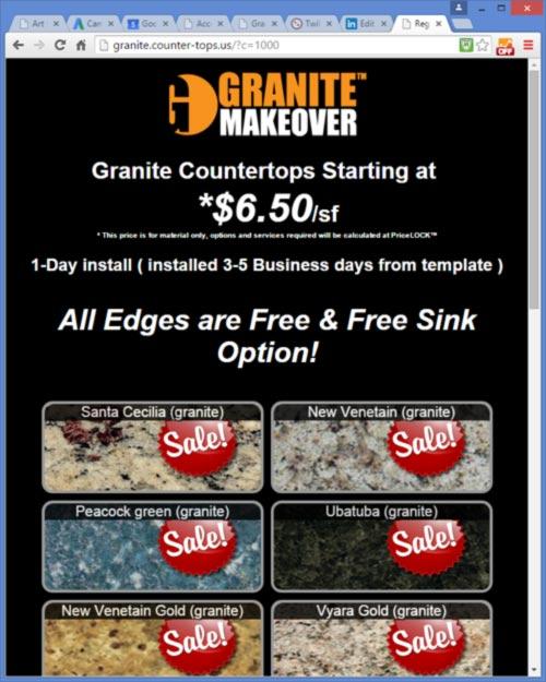 New PriceLOCK Application - increase granite lead conversions!
