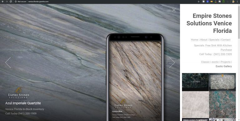 New Granite Countertop Website Design 2019